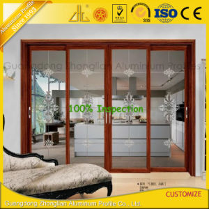 Aluminum Profile for Sliding Window and Door with Wood Colors pictures & photos