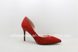 Sexy Fashion High Heels Imitation Leather Shoes pictures & photos