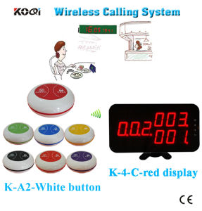Most Popular Restaurant Service Bell Equipment Ce Passed Wireless Paging System pictures & photos