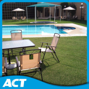 High Dense Artificial Grass with Dead Curly for Garden Residential Area pictures & photos