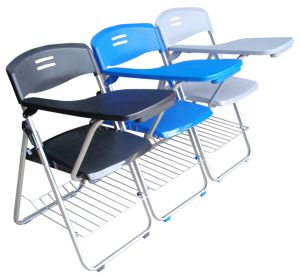 Writing Pads Table Attached Plastic Folding Traning Chair (HX-GS08) pictures & photos