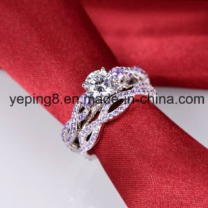 Twist Style Round Cut Amethyst Rings - Set 5 pictures & photos