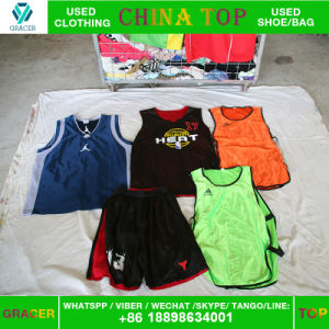 Secondhand Clothes Used Sport Jersey in Guangzhou Factory pictures & photos