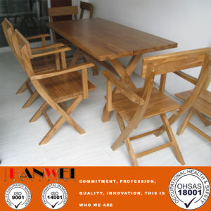 Chinese Oak Outdoor Wooden Garden Restaurant Dining Table Furniture pictures & photos