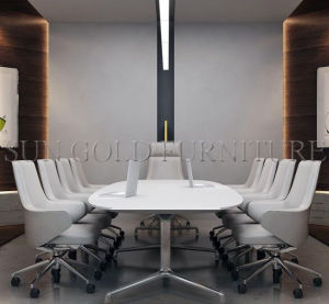 Modern Office Conference Room Furniture Oval Round Metting Table (SZ-MTE303) pictures & photos