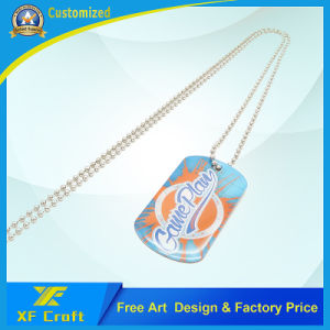 Promotional Gift Customized Epoxy Dog Tag with Necklace (XF-DT03) pictures & photos