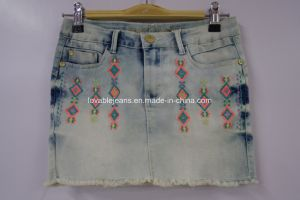 Light Blue Denim Skirt for Girls (IBG16-6101) pictures & photos