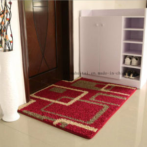 Fancy Red Flower Design PP Material TPR Base Floor Carpet pictures & photos