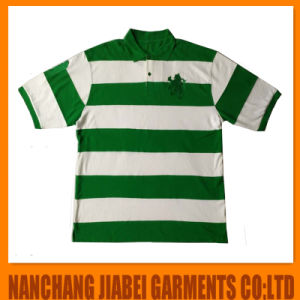 Men′s Sport Yarn Dyed Polo Shirt CVC with Embroidery pictures & photos