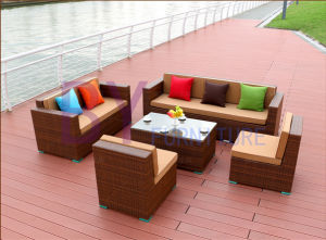 Outdoor Hotel Villa Balcony Garden Combination of Rattan Sofa pictures & photos
