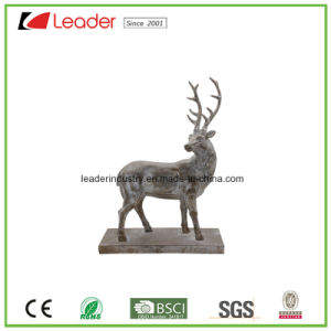 Polyresin Peaceful Deer Sculpture Statue for Home and Garden Decoration pictures & photos