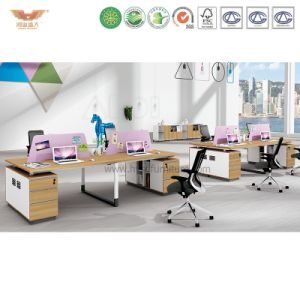Modern Office Workstation Partition Cubicles with Side Cabinet (H90-0216) pictures & photos