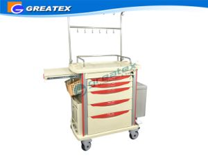 ABS IV Treatment Infusion Hospital/Medical Trolley with IV Stand pictures & photos