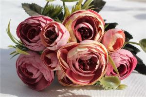 Wholesale Artificial Silk Flower Camellia for Wedding Decoration pictures & photos