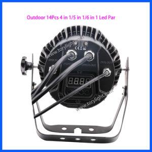 Stage Equipment DJ Quad LED 14PCS Flat PAR DJ Light pictures & photos