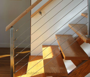 Stainless Steel Cable Staircase Railing Design pictures & photos