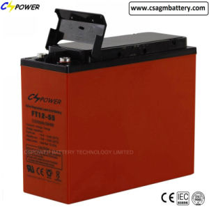 Solar/Telecom Use Long Type Terminal Gel Battery 12V55ah pictures & photos