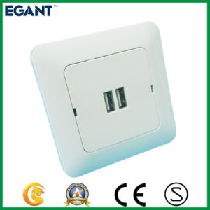 Best Selling Wall Socket with 2 USB Ports pictures & photos