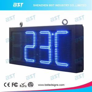 High Brightness Blue Color Time & Temperature LED Sign for Outdoor pictures & photos