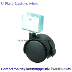 Factory Directly W/U Clip Nylon Black Furniture Hardware Wheels pictures & photos