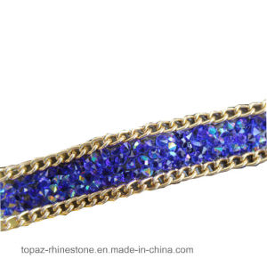 Gemstone Hotfix Lace Trim Iron on Diamond Rhinestone Chain for Clothing Accessories DIY (TS-15mm siam ab) pictures & photos