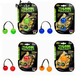 Factory Price 2017 New Arrival Glow in Dark Finger Yoyo Roll Ball Thumb Chucks Fidget Spinner