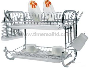 2 Layers Metal Wire Kitchen Dish Rack No. Dr16-9b pictures & photos