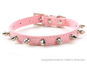 Hot Sale Quality Cheap Metal Spike Faux Snakeskin Dog Collars pictures & photos