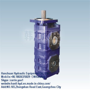 (CBGJ2100/2100) Hydraulic Charge Oil Double Pump for Excavator pictures & photos