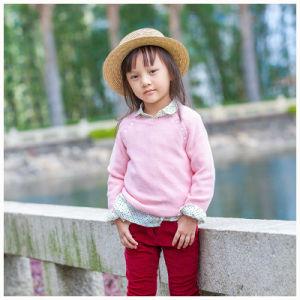 100% Cotton Dark Pink Children Clothing for Girls pictures & photos