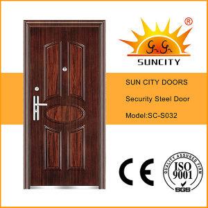 Swing Inside Decorative Steel Door (SC-S032) pictures & photos