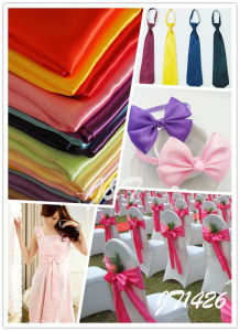 100% Polyester Satin for Lady Fashion Clothes pictures & photos