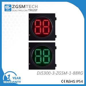 Traffic Counterdown Timer 2 Digital Red Green 2 Colors Dia. 300mm