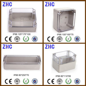 80*110*85 IP66 Plastic Enclosure Clear Cover ABS Open-Close Type Waterproof Switch Box pictures & photos
