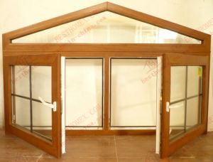 Woodgrain Aluminium Triangle Casement Window (BHA-CWA15) pictures & photos