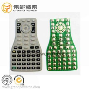 Gold Plated Silicon Push Button Golden Plated Elastomeric Conductive Silicone Single Keypad with Golden Contact Pill for Access Control