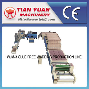 Nonwoven Glue Free Wadding Production Line (WJM-3) pictures & photos