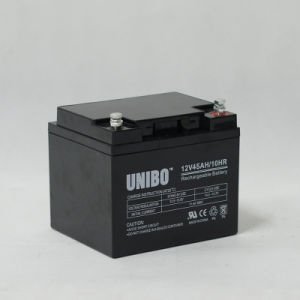 Solar Battery 12V45ah High Quality Solor System AGM Lead Acid Battery pictures & photos