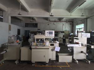 Adhesive Tape Log Roll Cutting Making Machine with Hot Stamping Equipment
