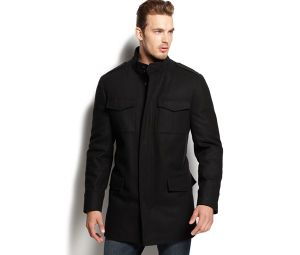 Men′s Wool-Blended Pockets Military Overcoat pictures & photos