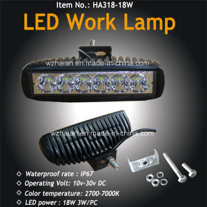 18W LED Work Lamp for Boat and off Road pictures & photos