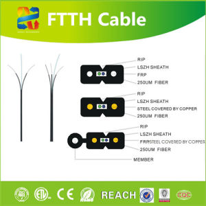 Hot Sale Hight Quality Fiber Optic FTTH Cable pictures & photos