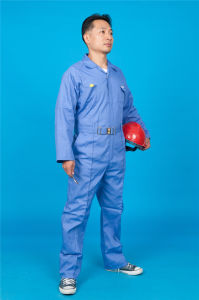 65% Polyester 35%Cotton Long Sleeve Safety Coverall Workwear with Reflective (BLY1023) pictures & photos