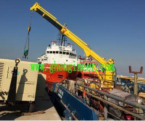 Hydraulic Telescopic Boom Marine Crane 3t15m pictures & photos