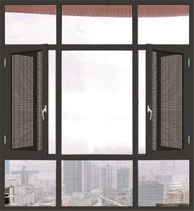 Aluminum Window with Metal Mesh Casement Window pictures & photos