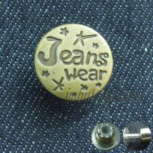 Vintage Brass Jeans Wear Fix Metal Button of Factory pictures & photos