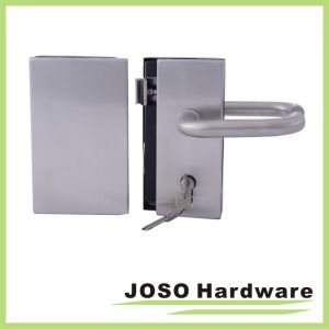 Interior Tempered Glass Doors Center Lock & Strike pictures & photos