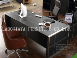 Modern Leather MDF Office Desk Office Table (V1) pictures & photos