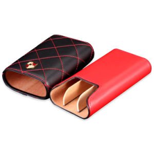 Custom Brand Genuine Leather Cigar Tube Case pictures & photos