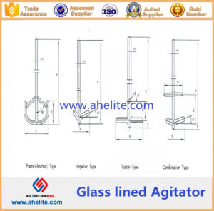 Puddler/ Stirrer/Agitator / Beater of Glass Lined Reactor pictures & photos